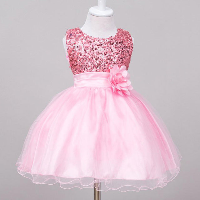 Flower lace baby princess dress