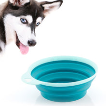 Load image into Gallery viewer, Heart Silicone Folding Pet Bowl