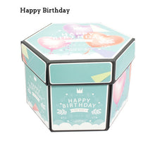 Load image into Gallery viewer, DIY Hexagon Surprise Love Explosion Box Scrapbook Photo Album Anniversary Gift Box For Valentine Birthday Christams Decoration