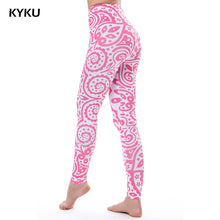 Load image into Gallery viewer, Pink  Women Legging High Waist