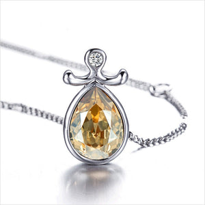 12 Zodiac Signs Austrian Crystal Pendent  for Girls