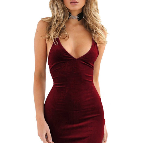 2019 Velvet Womens summer New dress Sexy