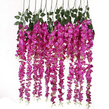 Load image into Gallery viewer, Vines Wedding Decor Rattan Flower Garland Silk Cherry Fake