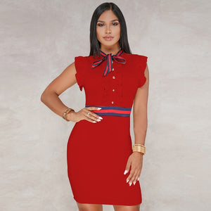 2019 New Solid Bow Women Dress Selling