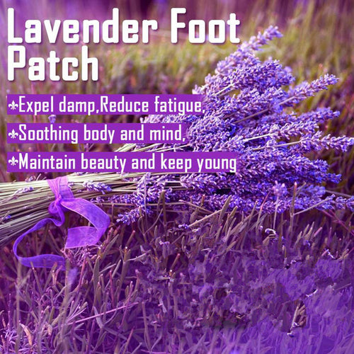 6 Sets Tradition Chinese Detox Foot Patch Lavender Pads