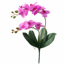 Load image into Gallery viewer, Artificial Orchid Flowers with Leaves home Decoration Flores