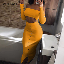 Load image into Gallery viewer, 2019 Articat Off Shoulder Long Sleeve Sexy Dress
