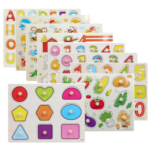wooden puzzle for learning kids