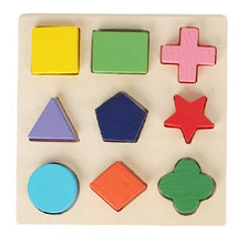 Load image into Gallery viewer, Candywood Wood Geometric Shape kids