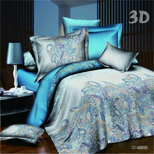 Load image into Gallery viewer, 3d Rose Wedding flat bed linen Valentine Gift