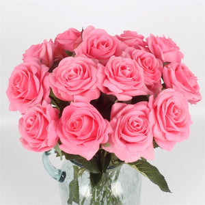 Artificial  rose Flowers Real Touch