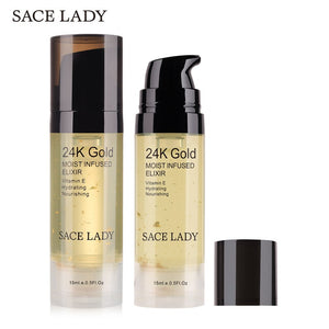 Portable Size 24K Gold Face Care Essence Nutrition Liquid Moisturizing Anti-Aging Anti Wrinkle Firming Day Face Liquid