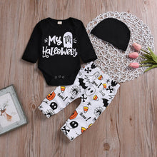 Load image into Gallery viewer, Toddler Infant Baby Girls Boys Letter Romper Pants Halloween Costume Outfits Set