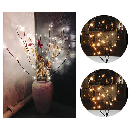 LED Willow Branch Lamp Floral Lights 20 Bulbs Home Party Garden Decor