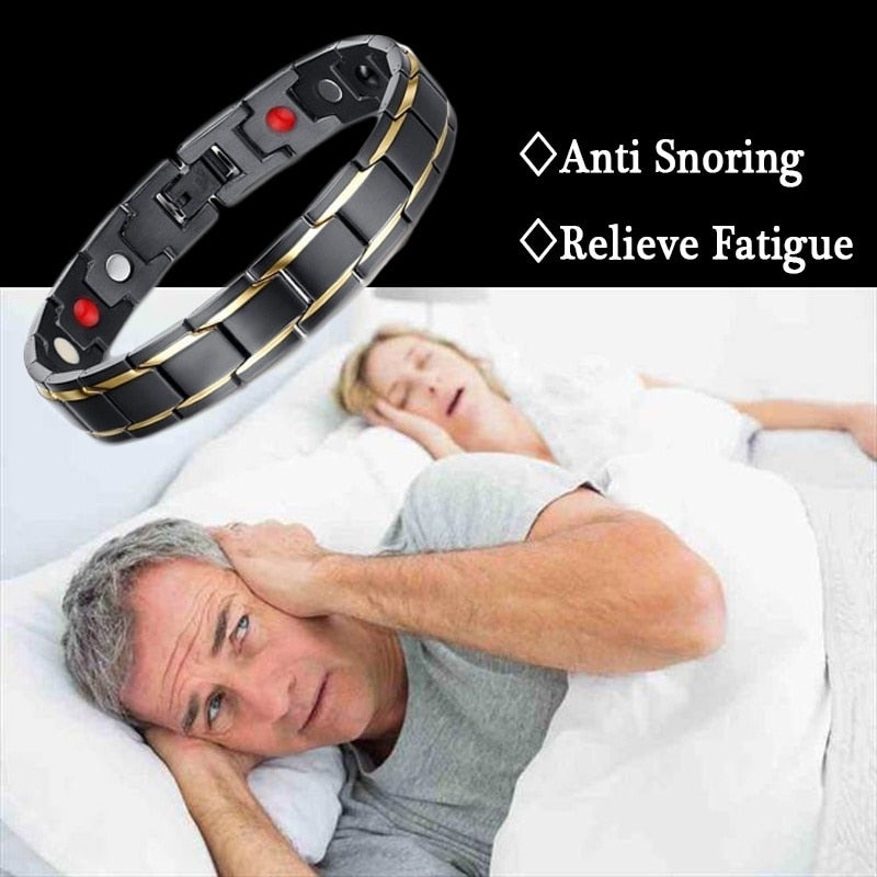 2019 New Hot Anti Snoring Health Remedy Gadget  Magnetic Therapy Bracelet watch