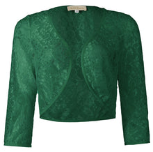 Load image into Gallery viewer, Lady Lace Shrug Bolero Jacket 3/4 Sleeve Cardigan Blouse