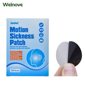 36Pcs Chinese Herbal Plaster Anti Motion Sickness Patch Fast Acting Behind Ear Dizziness Health Care Medical K02201