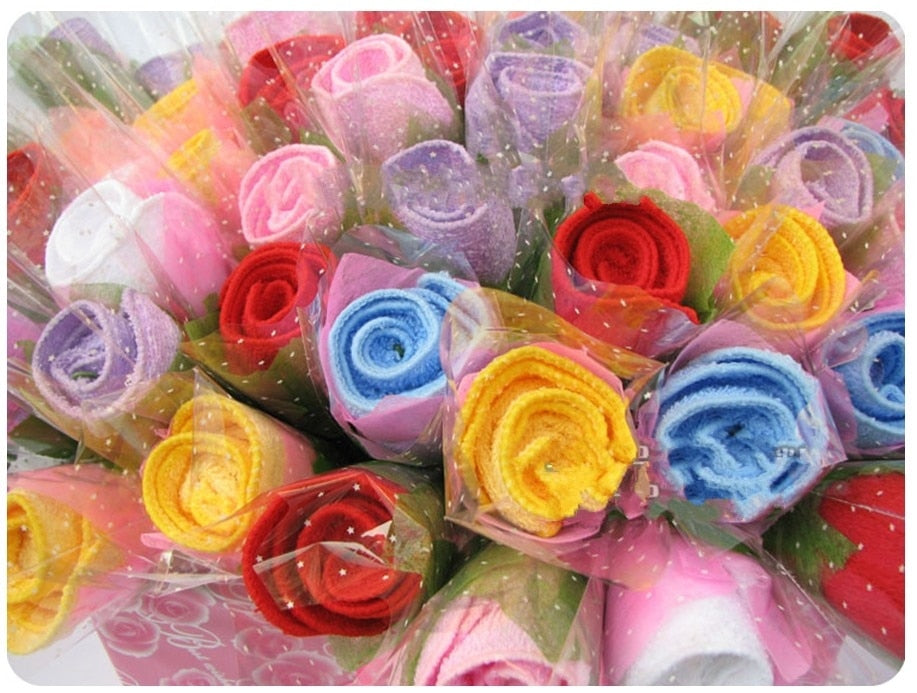 Artificial rose flowers, Valantine present ,50PCS