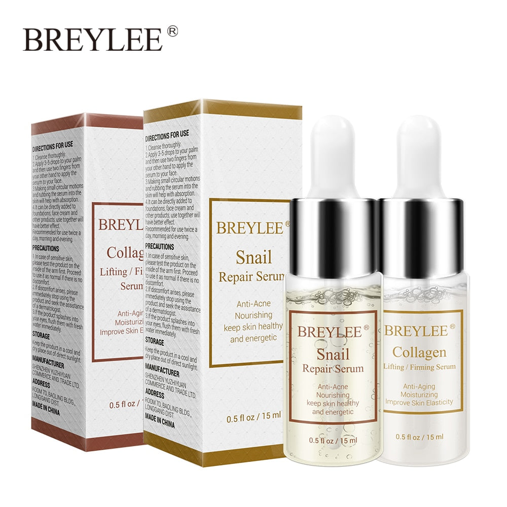 BREYLEE Snail Serum+Collagen Serum repair anti aging face skin best