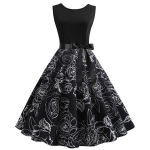 2019 women vintage party dress