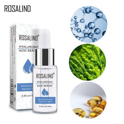 ROSALIND 24K Gold Facial Serum 15ML Anti-Aging Wrinkle Deep Repair Skin Face Serum Essence hyaluronic acid Whitening Face Cream
