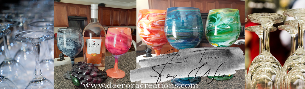 Colored Personalized Custom Wine Glasses, resin, epoxy, Deerora Creations
