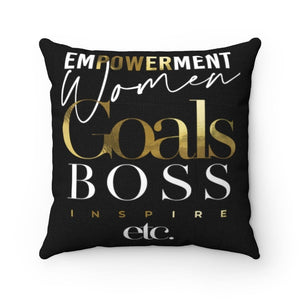 Goals Boss Square Pillow