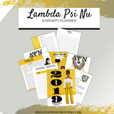 Lambda Sorority Daily Planner