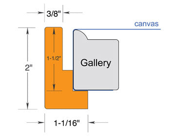 "Floating Frame for canvases up to 1.5"" deep"