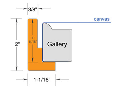 """Floating Frame for canvases up to 1.5"""" deep"""
