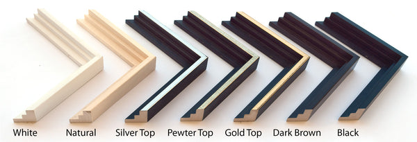Floating Frame colours available from Upper Canada Stretchers