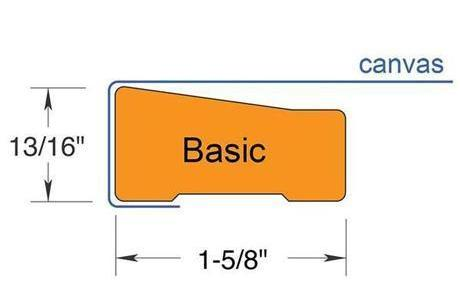 Basic Stretcher Bar profile - ideal for frames 6