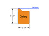 1-1/2″ Gallery Custom Stretcher Frames Sketch