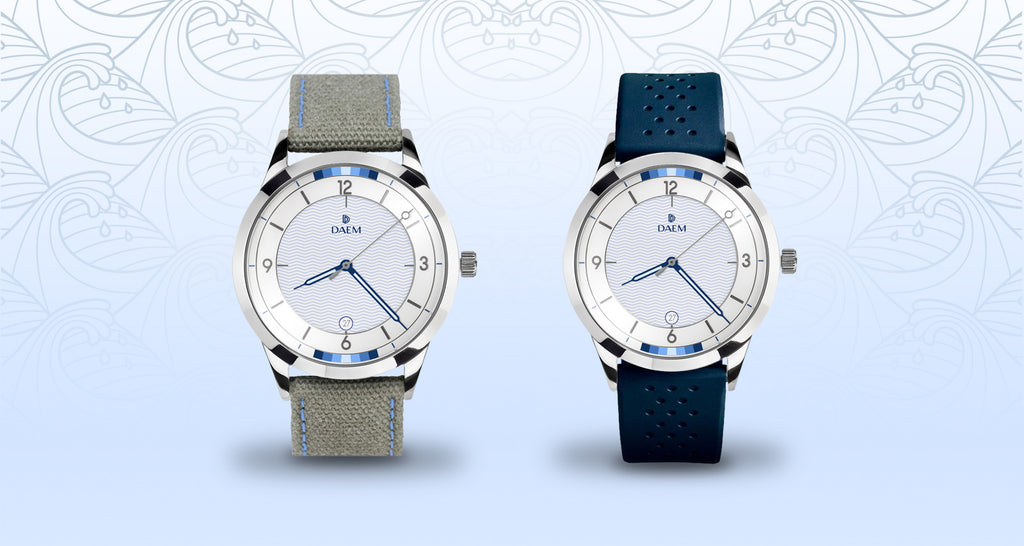 DAEM Flow watch design collaboration inspired by Let It Flow charity