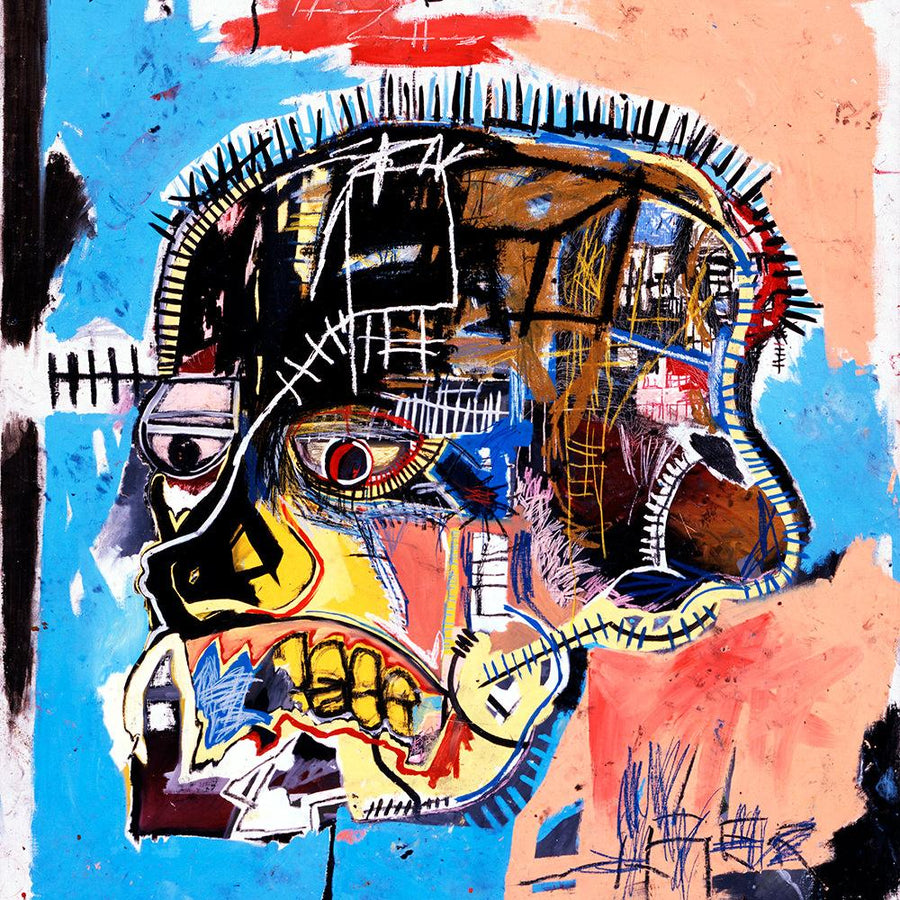 Basquiat Untitled Skull Artwork (1982)