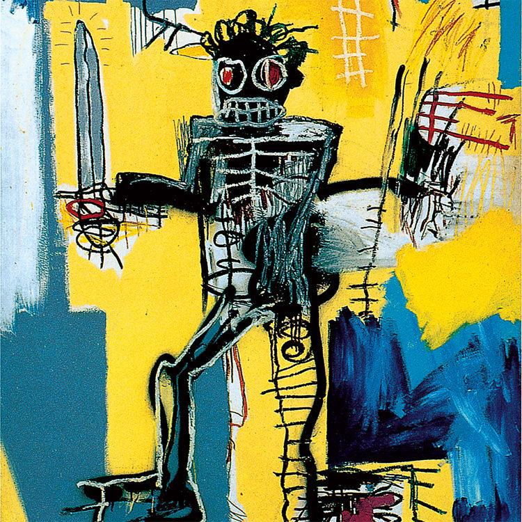 Basquiat Warrior artwork (1982)