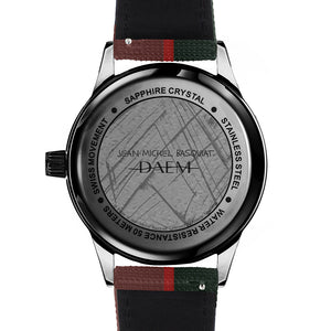 DAEM x Basquiat Now's the Time watch - back