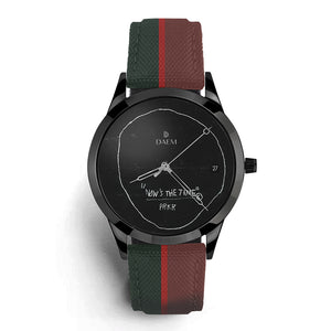 DAEM x Basquiat Now's the Time watch - front