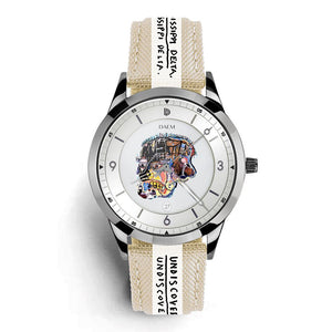 DAEM x Basquiat Skull watch - front