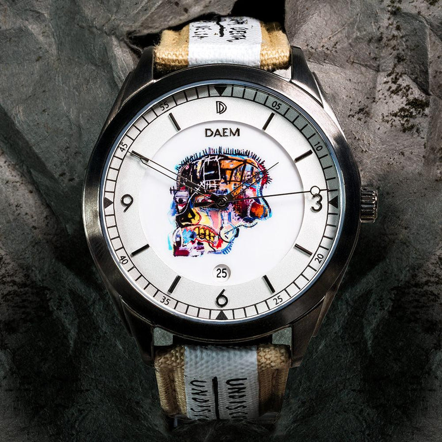 DAEM x Basquiat Skull watch - paper