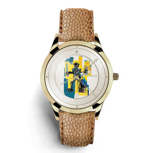 DAEM x Basquiat Warrior watch - front