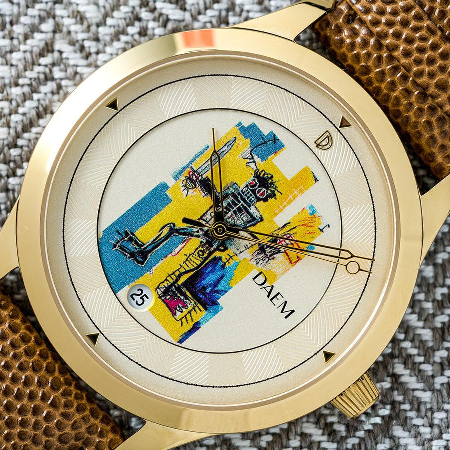 DAEM x Basquiat Warrior watch - macro