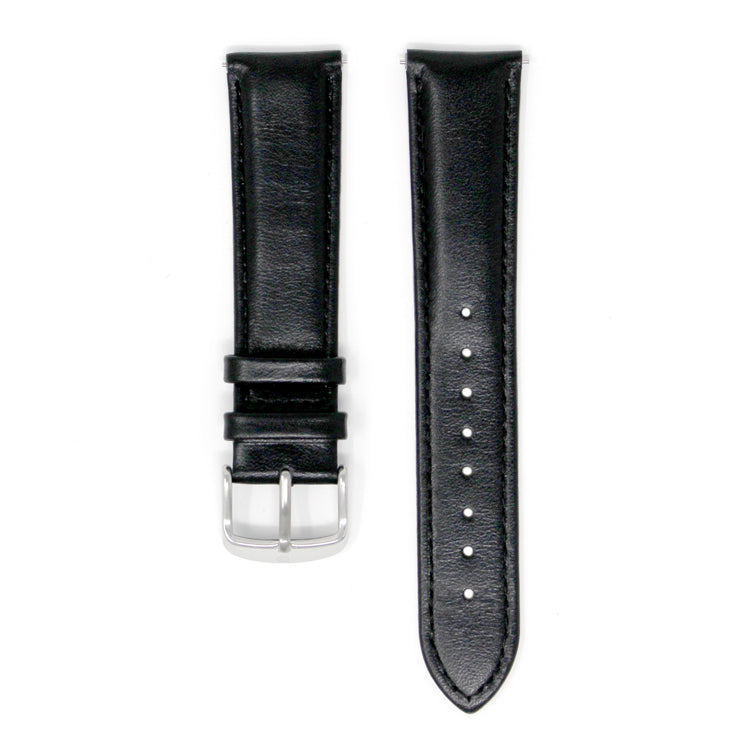 DAEM Italian black leather strap with detachable mechanism