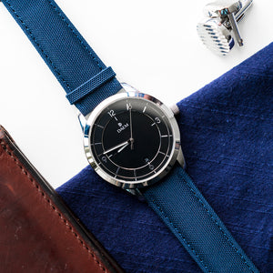 DAEM Sterling x Blue canvas watch