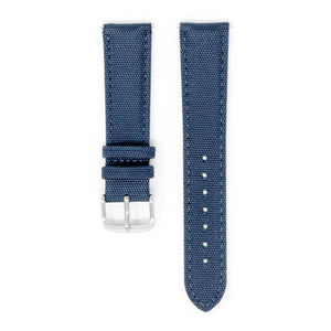 DAEM blue canvas strap with leather lining and detachable mechanism