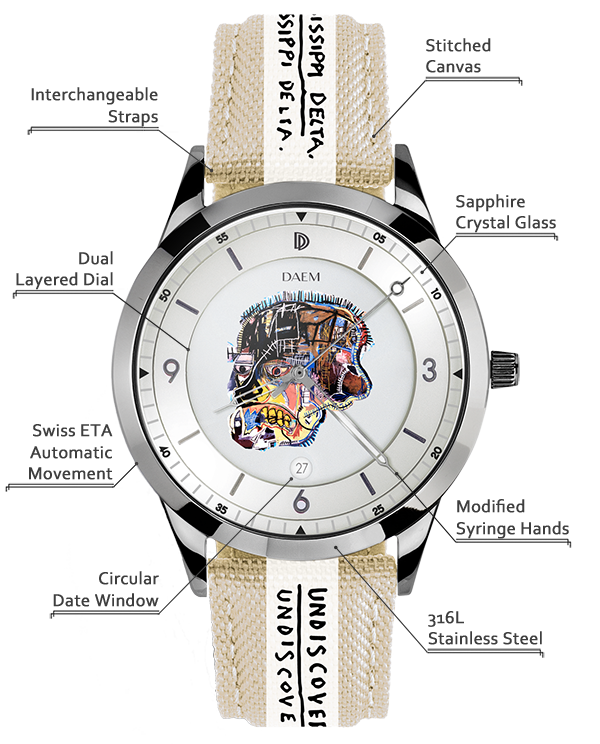 DAEM x Basquiat Skull detailed specifications