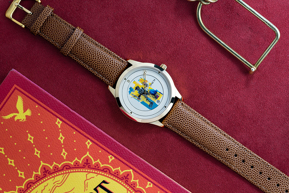 DAEM x Basquiat Warrior watch overhead