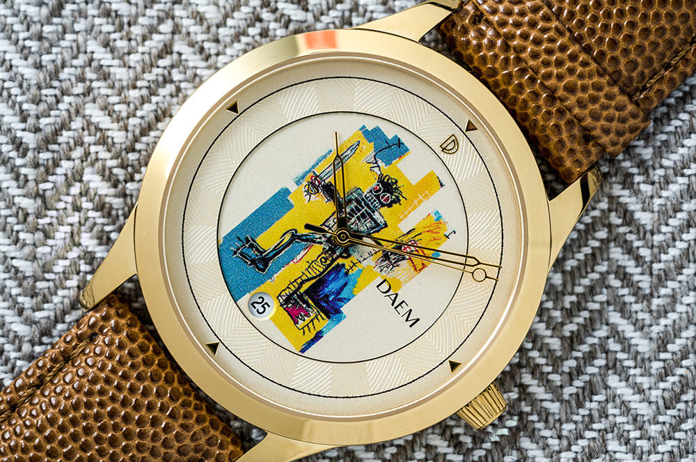 DAEM x Basquiat Warrior watch macro
