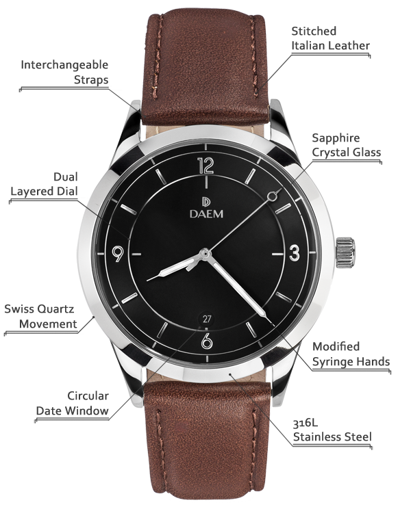 DAEM Sterling Brown Leather detailed specifications