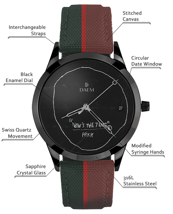 DAEM x Basquiat Now's the Time Detailed Specifications